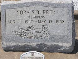 Nora Sophie <i>Ahrens</i> Burrer