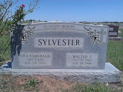 Ora Dessie <i>Hill</i> Sylvester