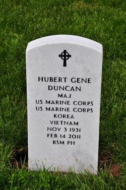 Maj Hubert Gene Duncan