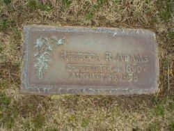 Rebecca R <i>Bradley</i> Adams