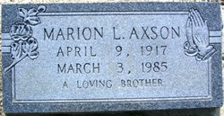 Marion L. Axson