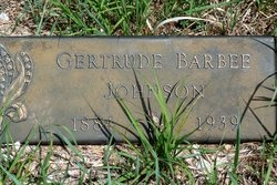 Gertrude <i>Barbee</i> Johnson