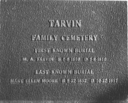 Tarvin-Moore Cemetery