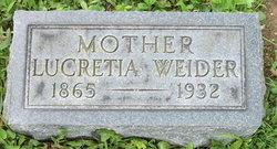Lucretia <i>Spangler</i> Weider