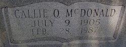 Callie Ophelia <i>McDonald</i> Cain