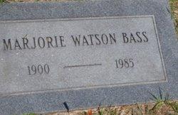 Marjorie May <i>Watson</i> Bass