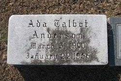 Ada Virginia <i>Talbot</i> Anderson
