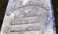 Mattie Myrick <i>Hilsman</i> Stafford