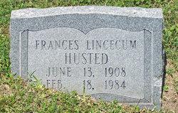 Frances <i>Lincecum</i> Husted