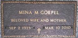 Mina M <i>Schick</i> Goepel