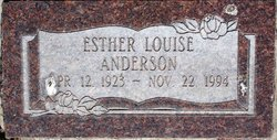 Esther Louise Anderson