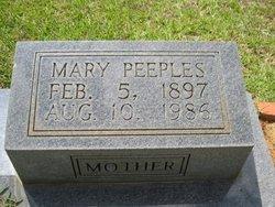 Mary <i>Peebles</i> Agent