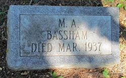 Mrs Minerva Ann <i>Foust</i> Bassham