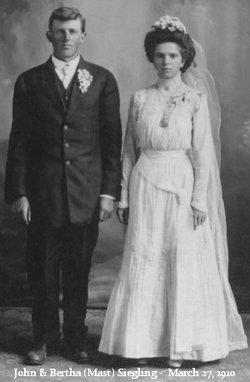 Bertha Anna <i>Mast</i> Siegling