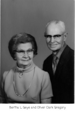 Bertha Leona <i>Geye</i> Mehaffey Gregory