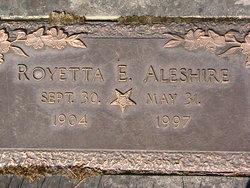 Royetta E. <i>Scandrett</i> Aleshire