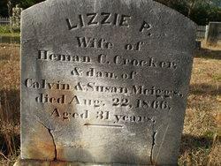 Elizabeth Parker Lizzie <i>Meiggs</i> Crocker