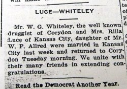 Rilla May <i>Allred</i> Whiteley