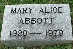 Mary Alice <i>Davis</i> Abbott