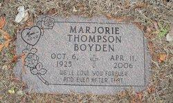 Marjorie R <i>Thompson</i> Boyden