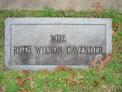 Ruth <i>Wilson</i> Cavender