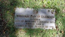 Corp William Daniel Saxman