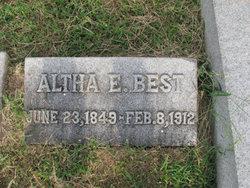 Altha E. <i>Davis</i> Best