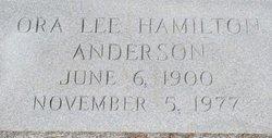 Ora Lee <i>Hamilton</i> Anderson