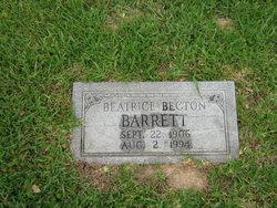 Beatrice <i>Becton</i> Barrett