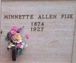 Mrs Minnette <i>Allen</i> Fisk