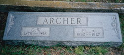 Ella J. <i>Burleson</i> Archer