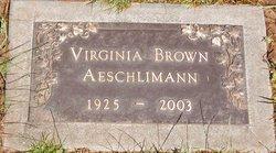 Virginia Brown Aeschlimann