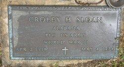 Croley H Sloan