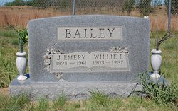 Willie Inez <i>Barker</i> Bailey
