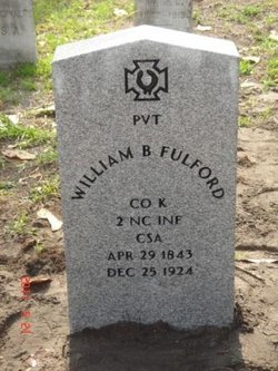 Pvt William Burgess Fulford