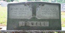 Sarah Alice <i>Mathis</i> Howell