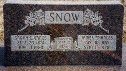 Sarah Elizabeth <i>Vance</i> Snow