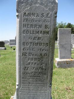 Anna Sophia Elizabeth <i>Rothfuss</i> Collmann