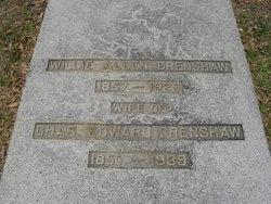 Willie Josephine Joe <i>Allen</i> Crenshaw