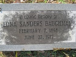 Edna <i>Sanders</i> Baughman