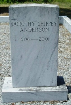 Dorothy <i>Shippy</i> Anderson