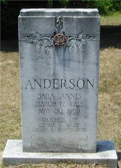 Sarah <i>Annis</i> Anderson