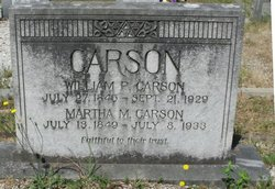 Martha Mahulda Mattie <i>Dailey</i> Carson