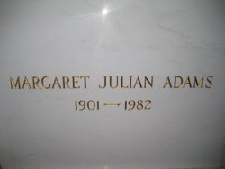 Margaret <i>Julian</i> Adams