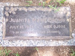 Juanita Marie <i>Edmonds</i> Brown