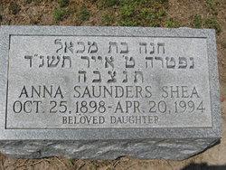 Anna <i>Saunders</i> Shea