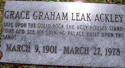 Grace Graham <i>Leak</i> Ackley