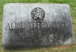 Alice <i>Terry</i> Hahs