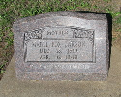 Mabel <i>Fox</i> Carson