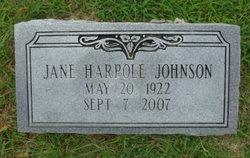 Mary Jane <i>Harpole</i> Johnson